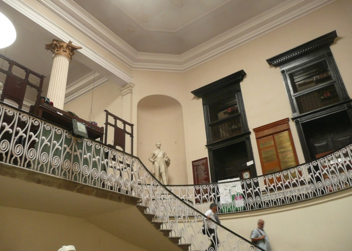 Asiatic Society interior, north entrance